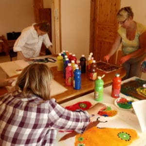 Healing intuitive painting